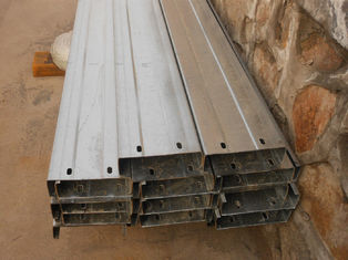 Automatic Drilled Holes Steel Building Purlins , Cold Rolled Steel C Purlin