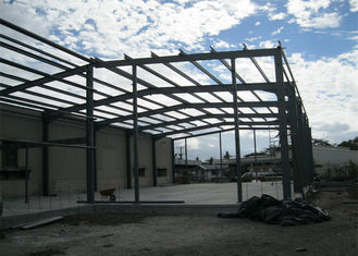 Single Span Steel Frame Warehouse Construction Fast Constructed For Industry