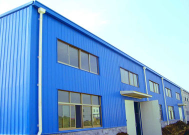 Gable Frame Industrial Warehouse Building Design , Durable Steel Structure Factory