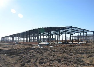 Thermal Insulation Structural Steel Warehouse , Fireproof Metal Workshop Building