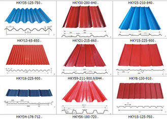 Corrugated Colour Coated Sheets Alu  Zinc Gi Gl 600 To 1250mm For Roofing