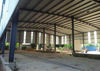 Prefabricated light Steel Frame Warehouse Construction Large Span Portal Structure Design