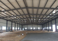Portal Structure Prefabricated Metal Buildings , Galvanized Prefab Steel Workshop