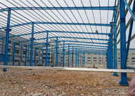 Pre Built Steel Warehouse Construction , Portal Structure Warehouse Steel Frame