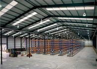 Prefab Steel Structure Warehouse Q235b Q345b Grade With Sliding Door