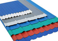 Galvanized Ppgi Colour Coated Sheets Corrugated Steel Panels For Roof / Wall