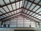 Structural Steel Frame Large Workshop Buildings Curved Roof