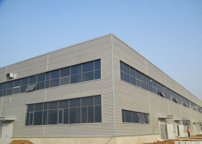 Waved wall panel fireproof glass wool steel structure workshop