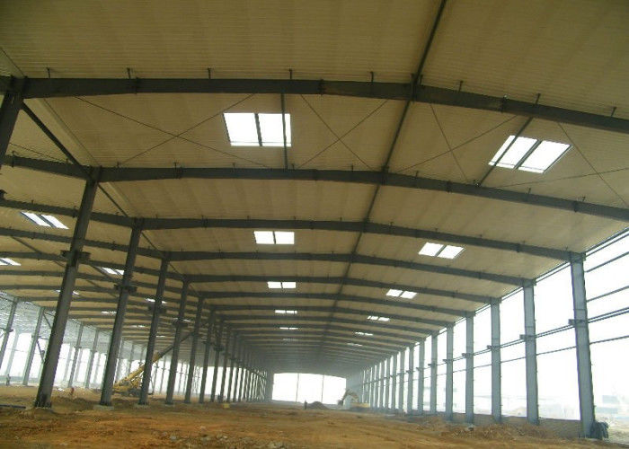 Large double span heavy crane water-proof steel structure workshop