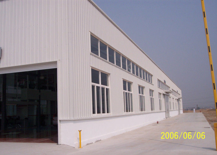 Customized Industrial Steel Construction , Pre Engineered Pre Fab Workshop
