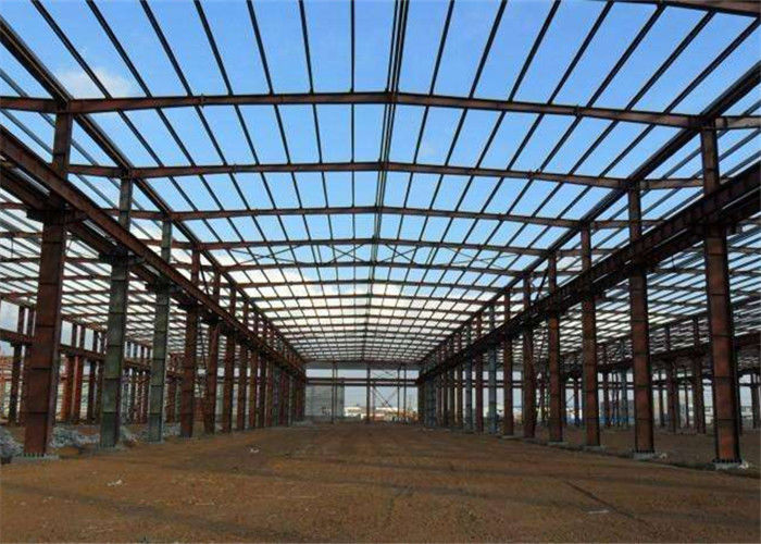 Prefab Modular Steel Construction , Gable Frame Light Steel Frame Building