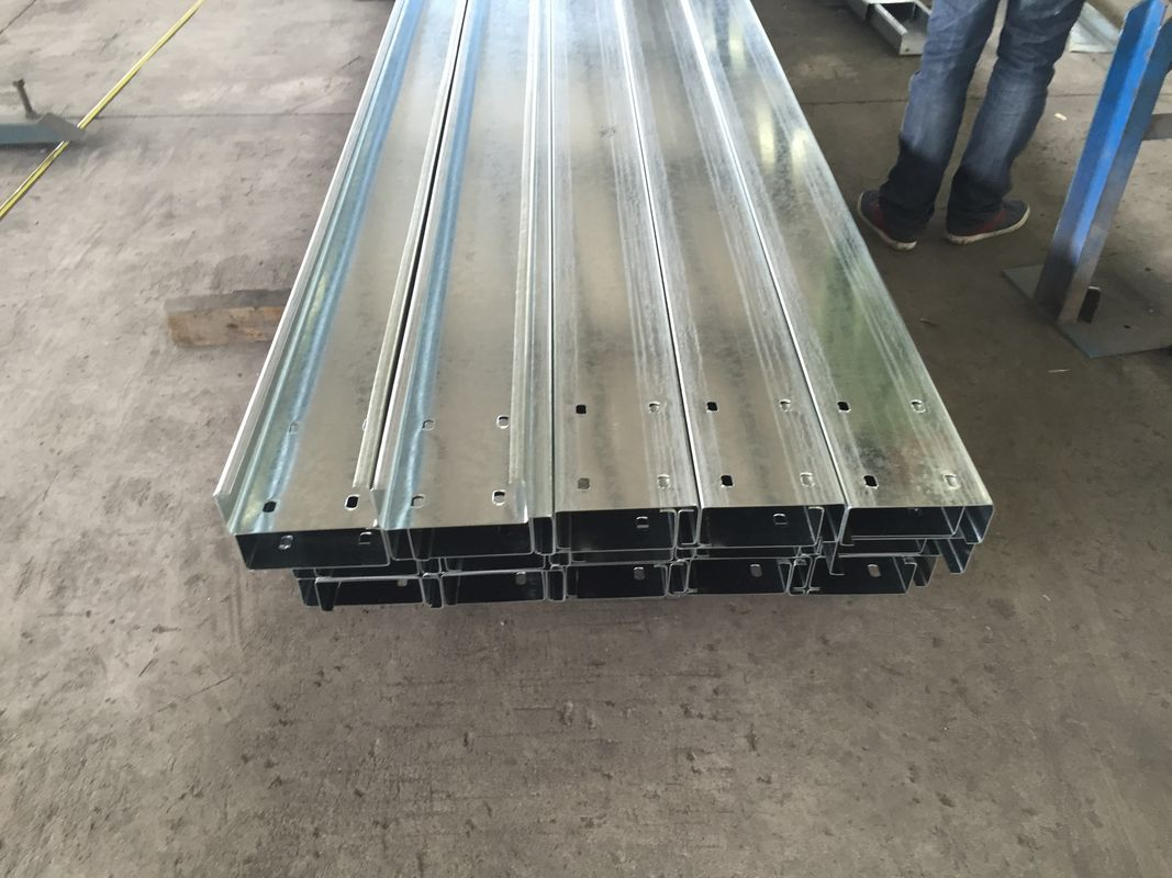 Z / C Section Purlins Channel Steel Galvanized / Polished For Construction