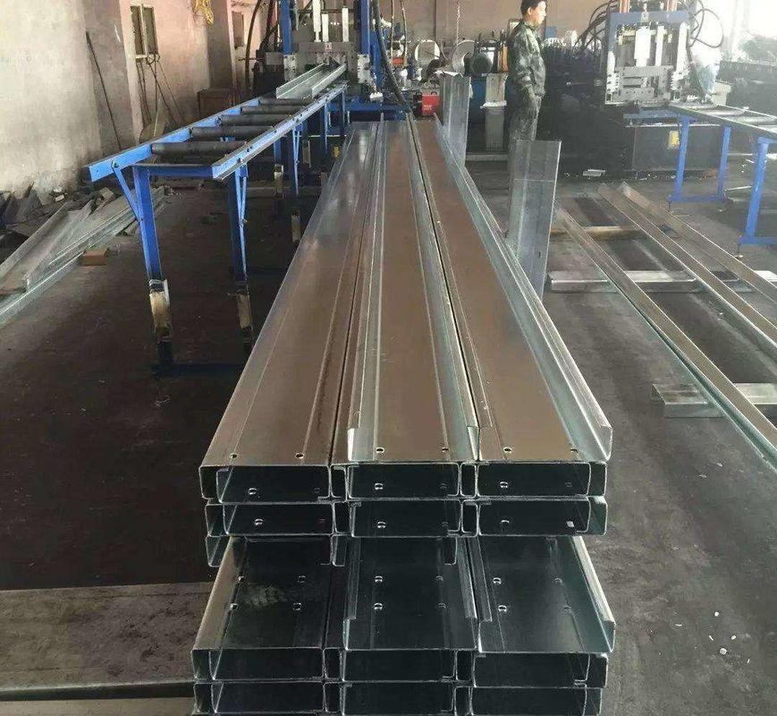 Q235b Q345b Galvanised Steel Purlins Cold Bending Spacing Steel Channel