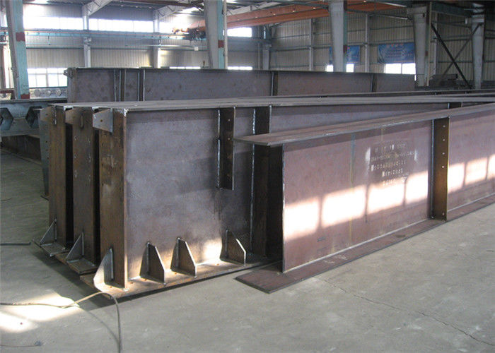 Hot Rolled / Welded Galvanized Steel Beams H Section Steel Structure Girder Column