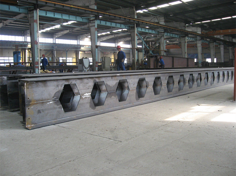Fabricated Welded Heavy Structural Steel Construction Materials Prime Hot Rolled Honey Comb Roof H Beams