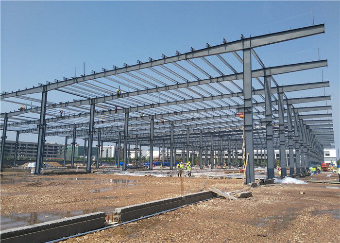 Low Cost Large-Span Prefabricated Light Steel Structure Frame Warehouse Building Construction