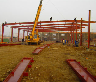 China Iso9001 / Sgs Steel Warehouse Structure , Large Span Metal Frame Warehouse factory