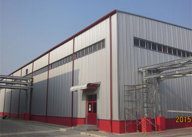 China Pre Manufactured Steel Buildings , Thermal Insulation Steel Building Workshop factory