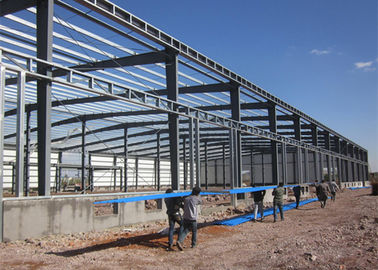 Long Life Steel Structure Warehouse Easy Build With Roller / Sliding Door