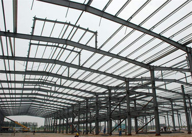 China Lightweight Steel Frame Construction , Free Designs Prefabricated Metal Buildings factory