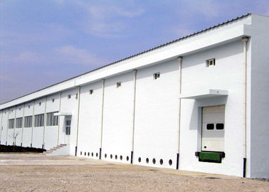 China Galvanized Steel Structure Workshop With Concrete Wall distributor