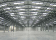 Earthquake Proof Steel Structure Workshop With Insulation Color Steel Sheet