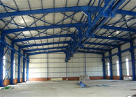Agriculture Steel Warehouse Construction , Portal Industrial Steel Frame Buildings
