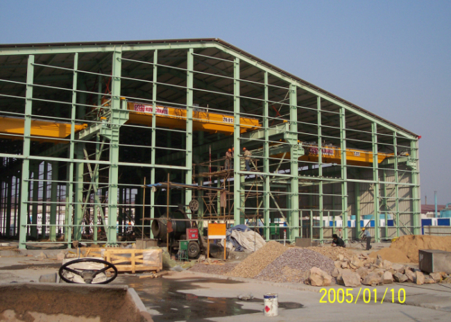 Maersk Heavy Lifting Crane High Live Loading  System Steel Structure Workshop