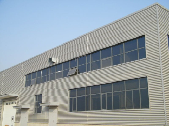 Big cannopy double storey steel structure workshop with office room
