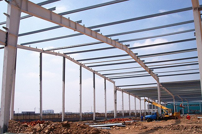 Modern Steel Structure Construction Steel Frame Warehouse With Sandwich Panel